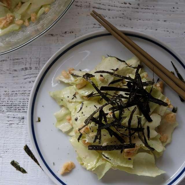 春キャベツの和風サラダ