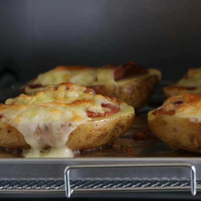 チーズがとろけるまでオーブンで焼く