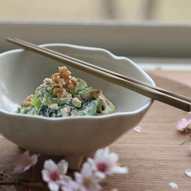 小松菜のクルミ白和え