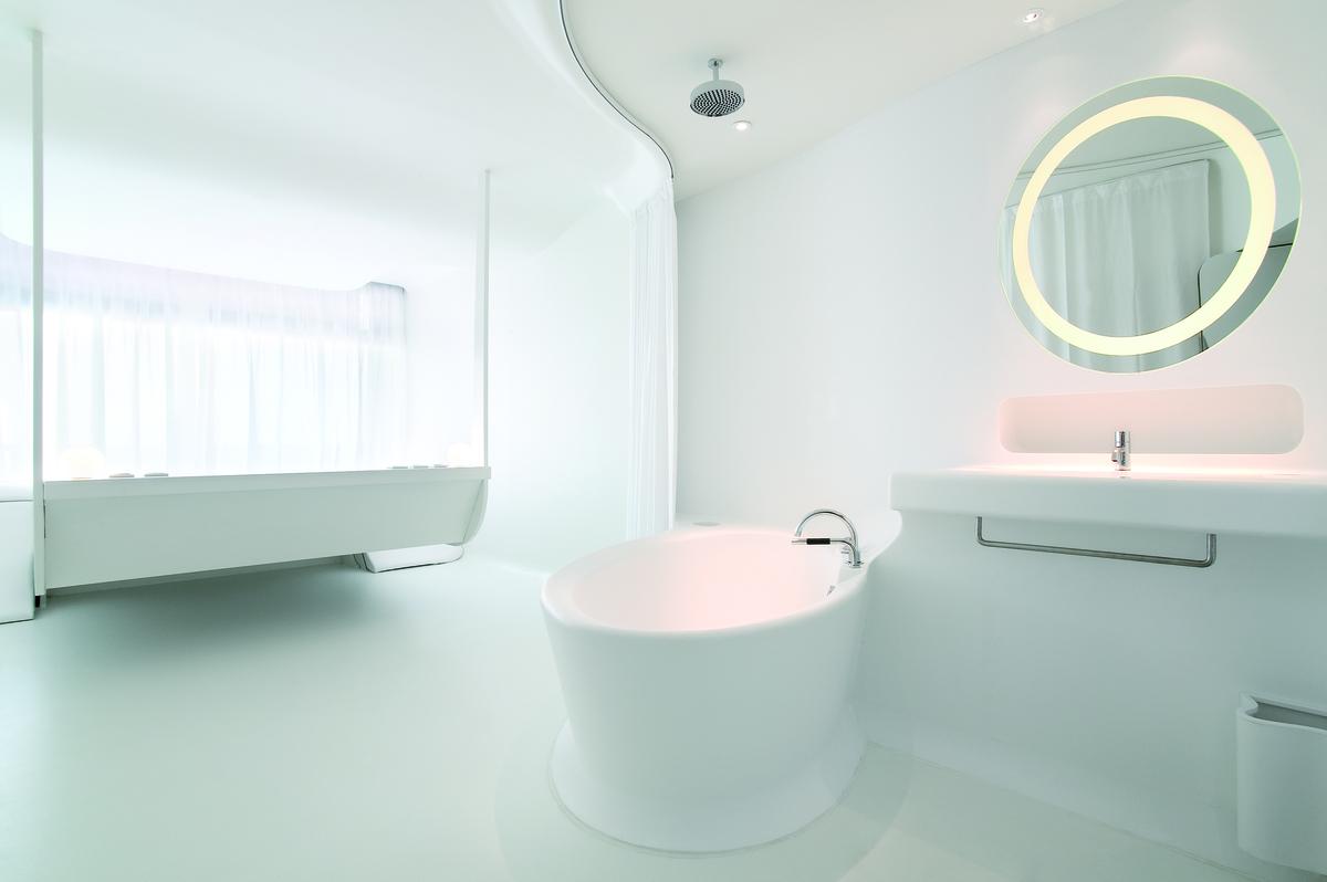 Kết quả hình ảnh cho homemas đá nhân tạo ốp nhà tắm