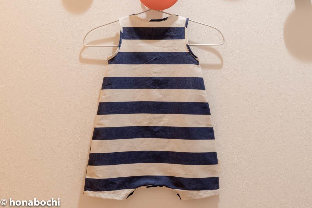目指せ100着!! 12.ヘンリーネックショートロンパース「小さな子どもの手づくり服」