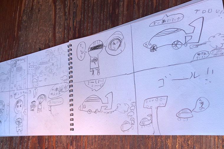 大津選手のファンの子どもが書いてくれた漫画