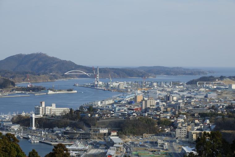 安波山の山頂からの眺め