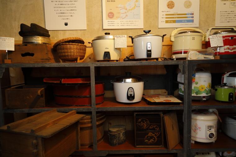 武山米店店舗・炊飯博物館の館内