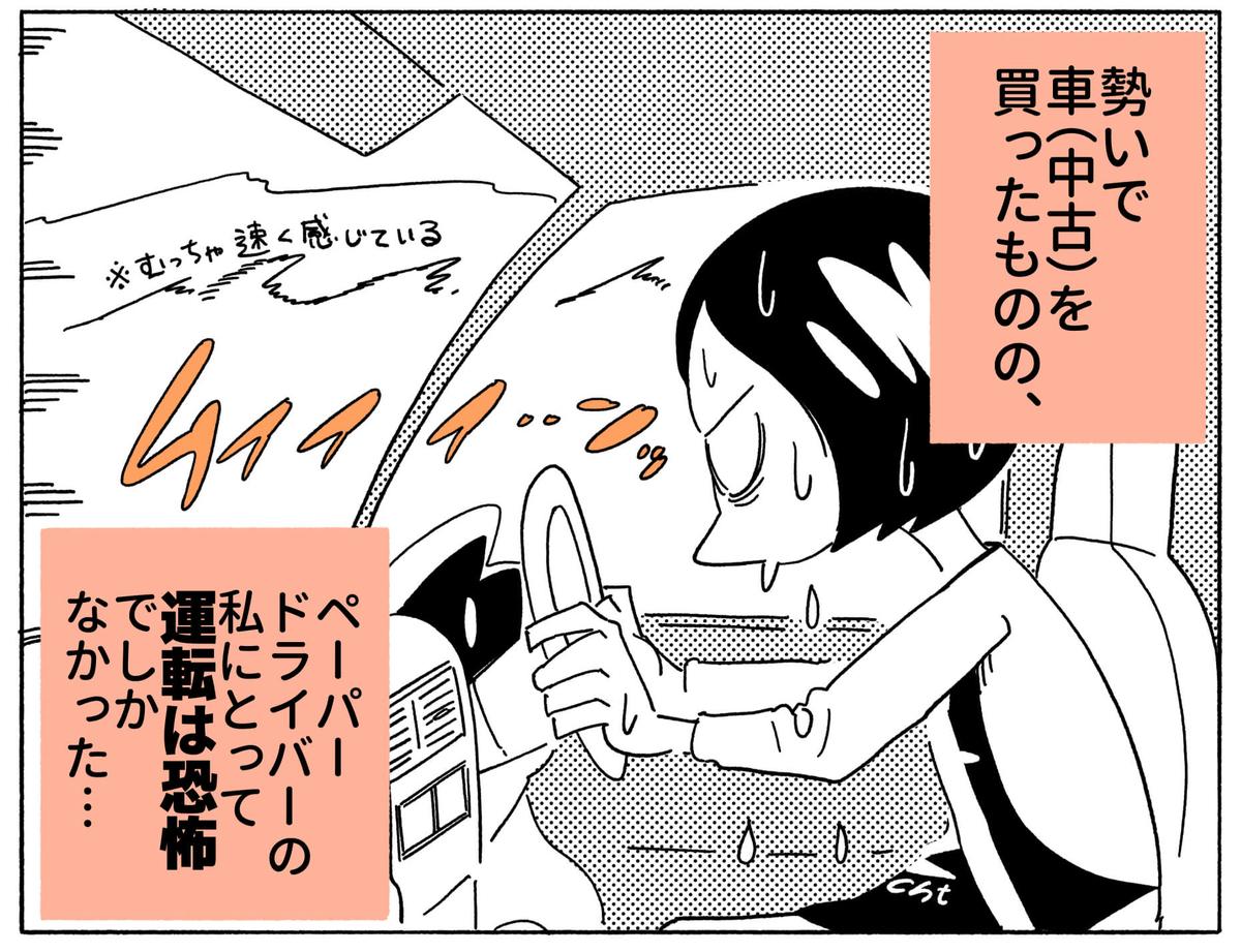 旅する漫画家シミによる連載「Wheeeels!」第1話の2コマ目