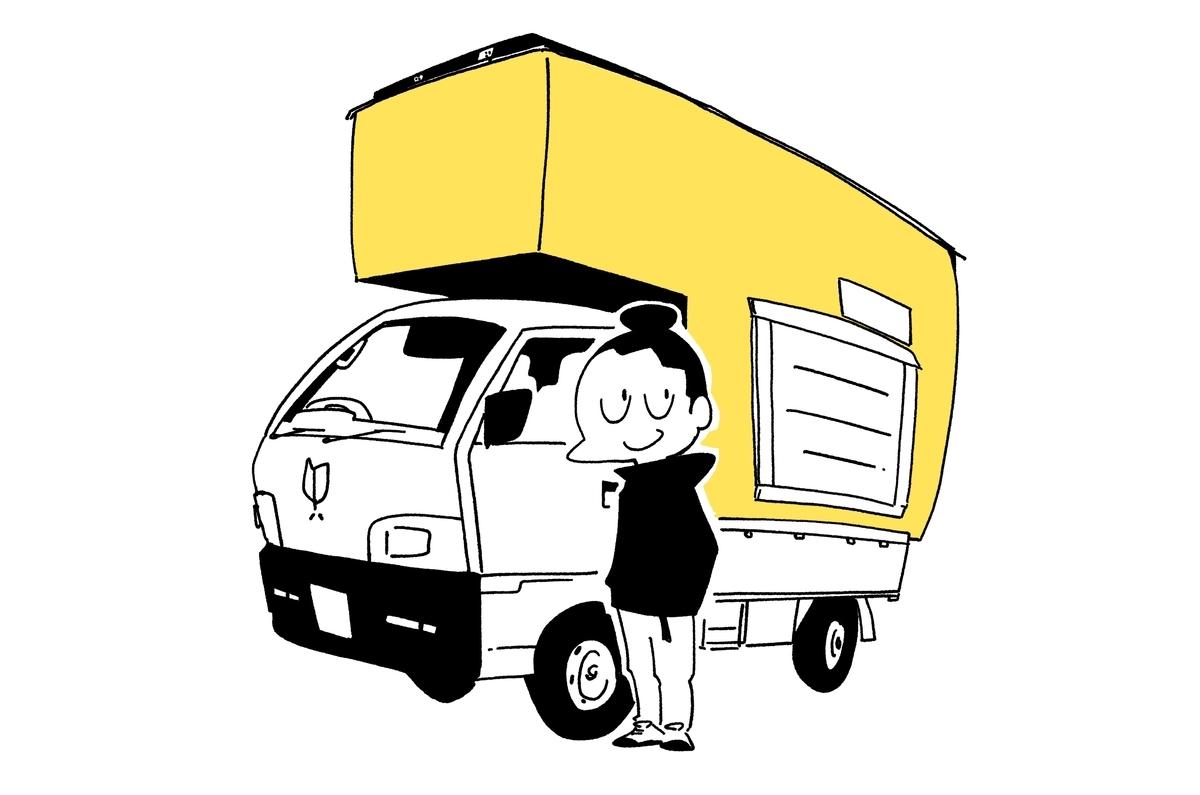 旅する漫画家シミのプロフィールイラスト