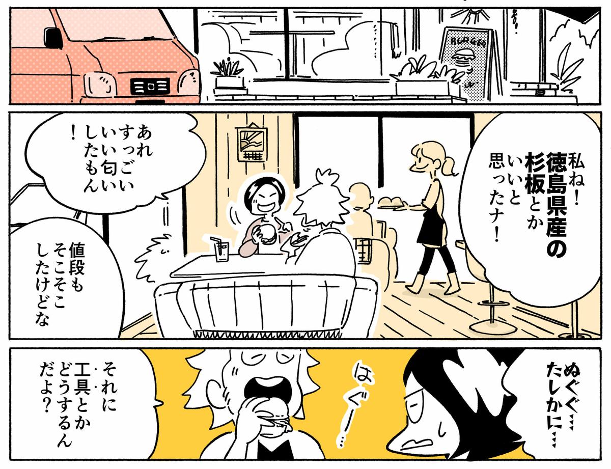 旅する漫画家シミによる連載「Wheeeels!」第4話の15コマ目