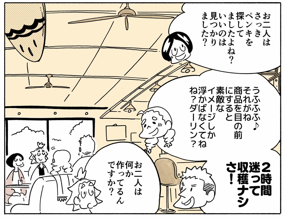 旅する漫画家シミによる連載「Wheeeels!」第4話の17コマ目