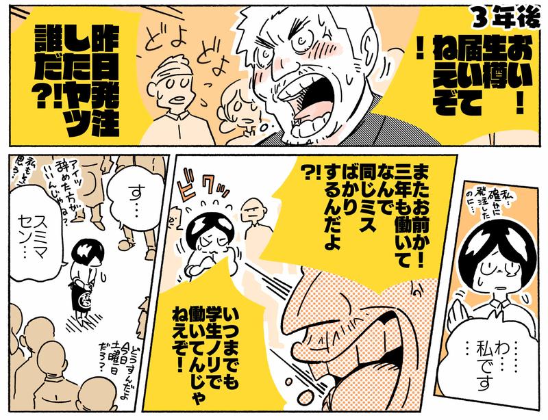 旅する漫画家シミによる連載「Wheeeels!」第6話の7コマ目