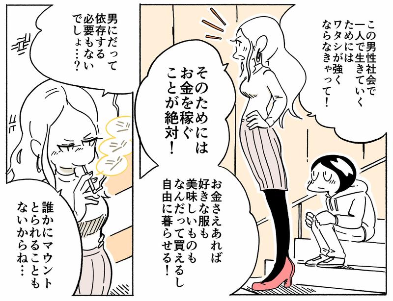 旅する漫画家シミによる連載「Wheeeels!」第6話の14コマ目
