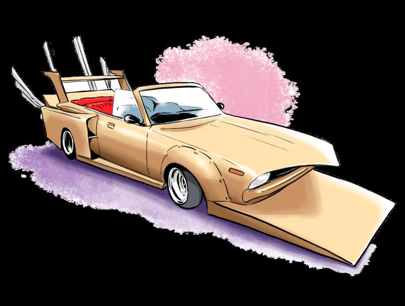 BOSOZOKUという車のカスタムを説明するイラスト