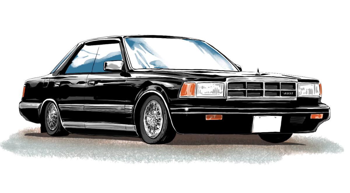 東久留米仕様という車のカスタムを説明するイラスト