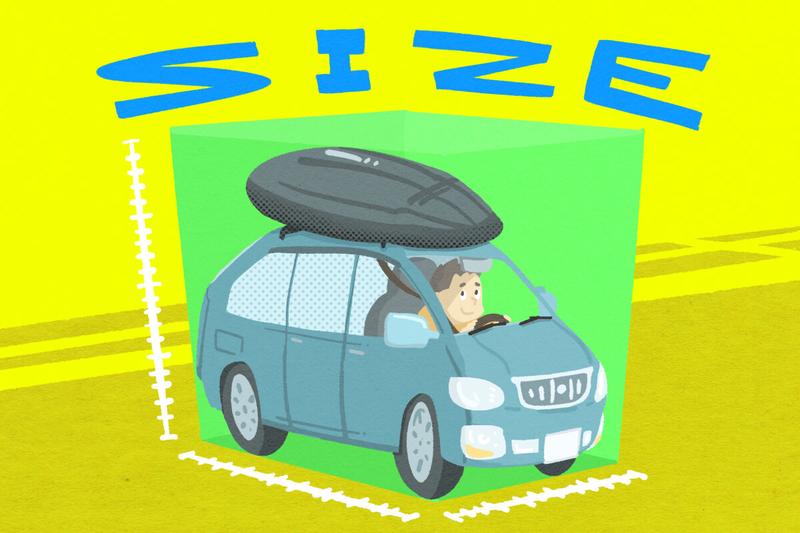 車のカスタム記事:「サイズ」のイラスト