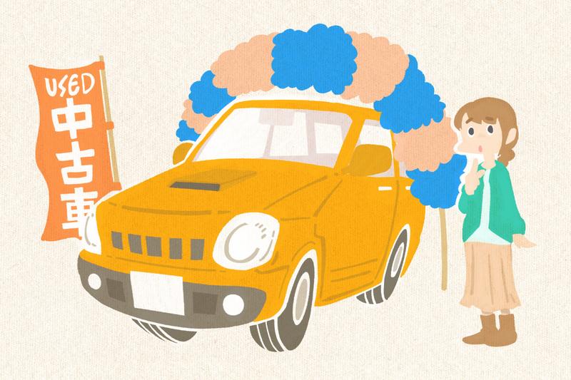 車のカスタム記事:「中古車にもカスタムできるのか」のイラスト
