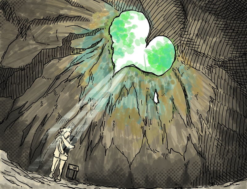 旅する漫画家シミによる連載「Wheeeels!」第10話の14コマ目