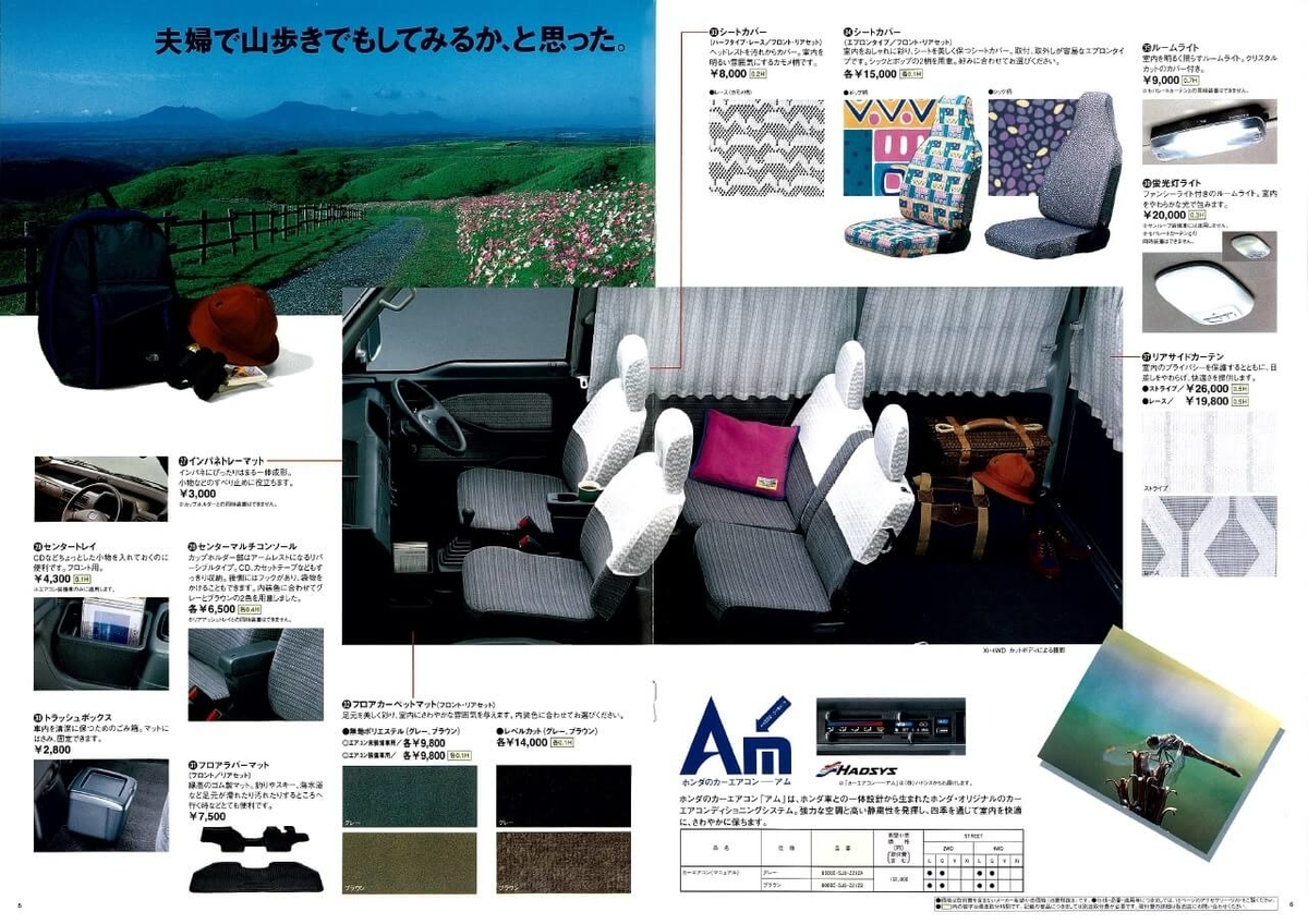 Honda「ストリート」の純正アクセサリーカタログより(1997年)