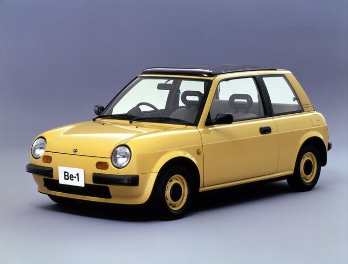 初代マーチを土台にしたパイクカー達の、内外装を振り返る。上は、1987年に発売された長男格のBe-1。