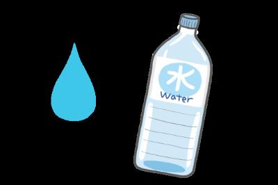 水のイラスト【車に積んでおきたいアイテム】