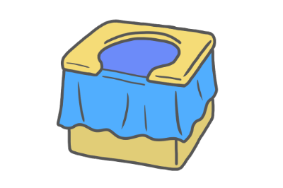 簡易トイレのイラスト【車に積んでおきたいアイテム】