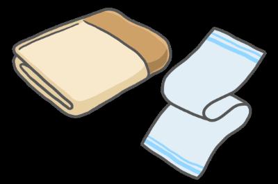 毛布&タオルのイラスト【車に積んでおきたいアイテム】