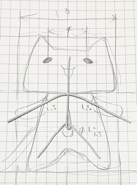 猫の骨格を作る