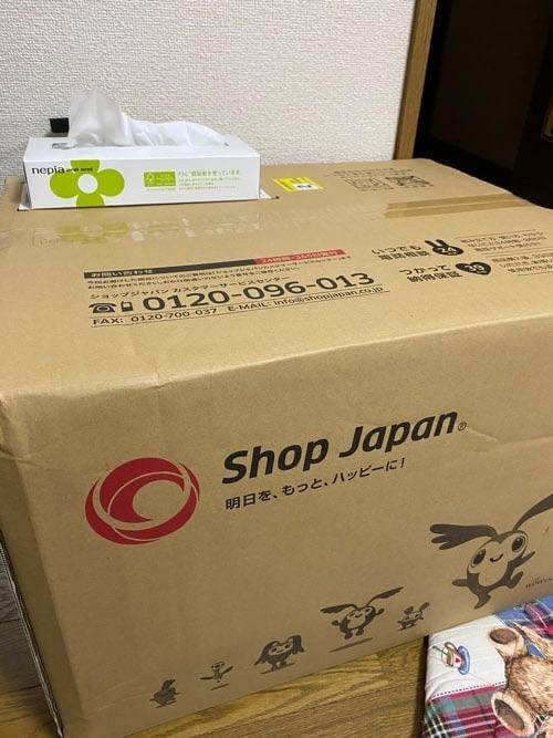 ショップジャパン荷物