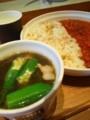 オクラともずくのスープ、夏野菜のラタトゥイユカレー@スープストッ