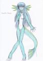 ニニアン。氷竜モードを人間体型にしたら個人的にツボった