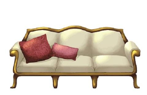 白いアンティークのソファー