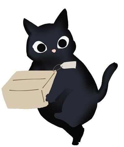 荷物を運ぶクロネコ