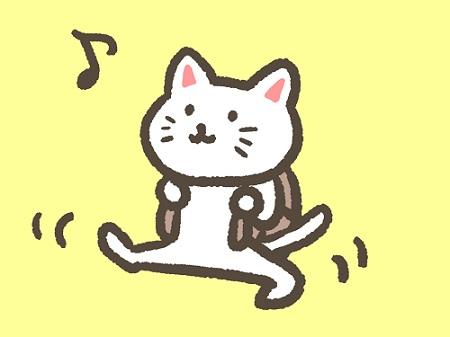 楽しそうに歩くネコ