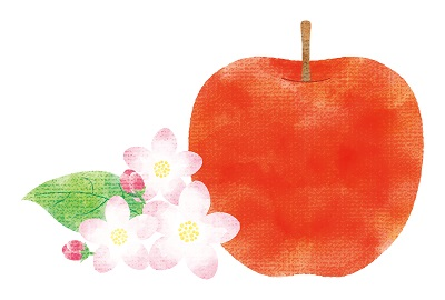 りんごとリンゴの花