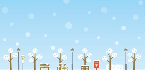 雪の積もる街