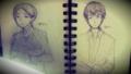 初描きの牧野さんと宮田さん(SIREN)