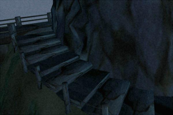 昭和京都の怪談綴りによる深夜の公園の恐怖の階段