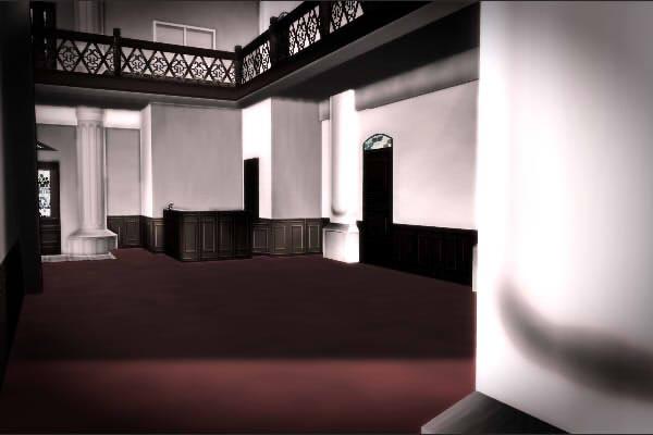 昭和京都の怪談綴りによる不気味な白い豪邸の内部