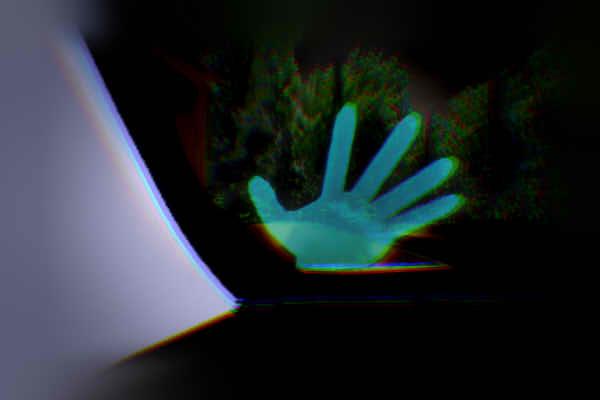 昭和京都の怪談綴りによる真説京都の清滝トンネルにて付着したリアウインドの手形