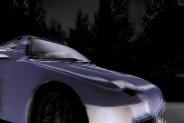 昭和京都の怪談綴りによる深夜の峠の車