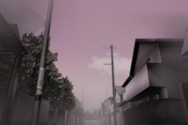 昭和京都の怪談綴りによる薄暗い伏見の住宅街