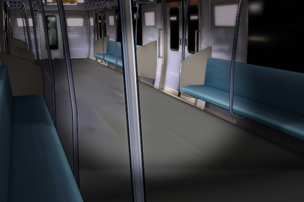 京阪電車の車内