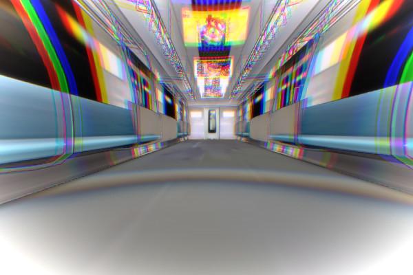 奇妙な電車内