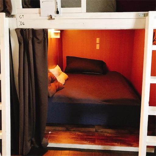 カプセレントのベッド