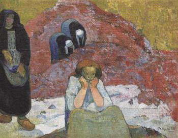 ゴーギャン作「ブドウの収穫、人間の悲惨」
