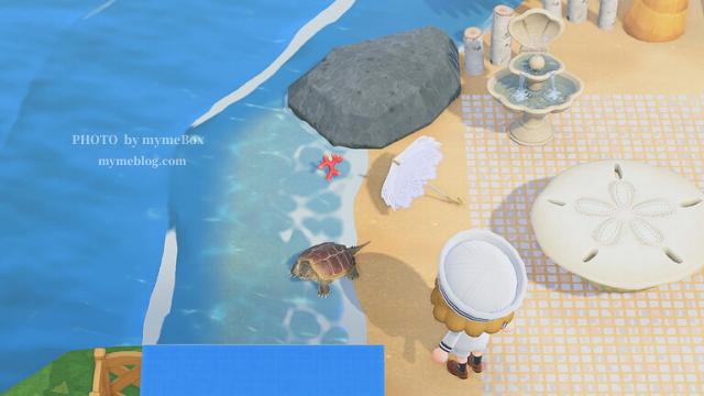 【あつ森】海辺のカフェのかいがらのテーブル