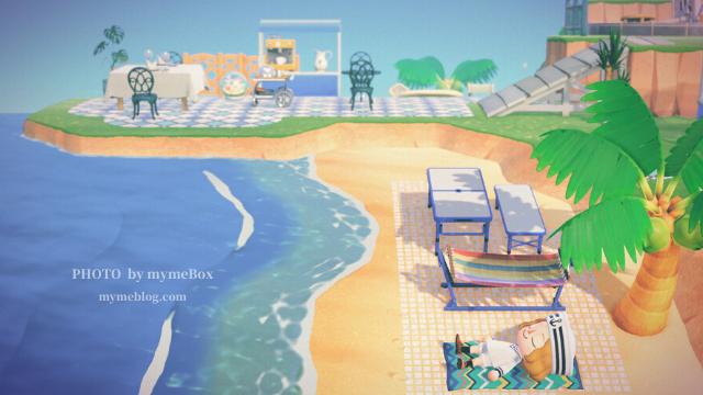 【あつ森】海辺のカフェのレイアウト