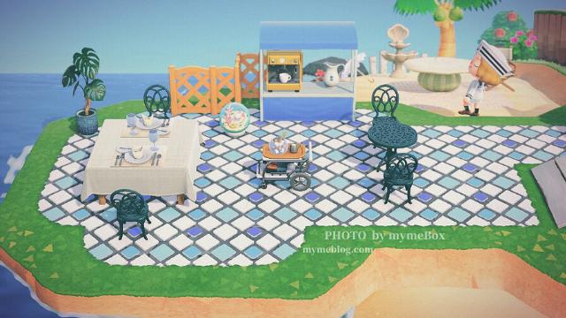 【あつ森】海辺カフェのレイアウト