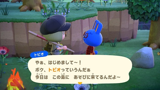 【あつまれどうぶつの森】ウサギのトビオ