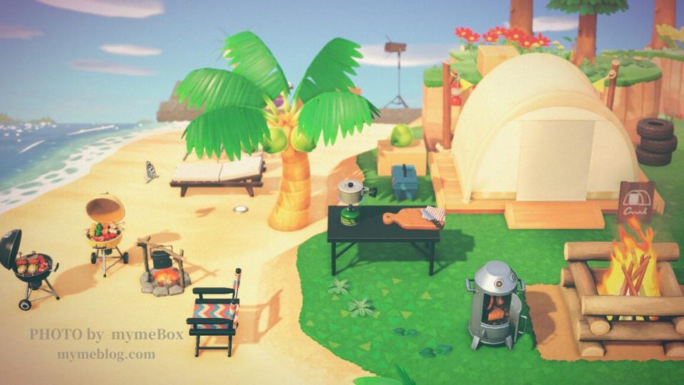 【あつ森】キャンプサイト周りとプライベートビーチ
