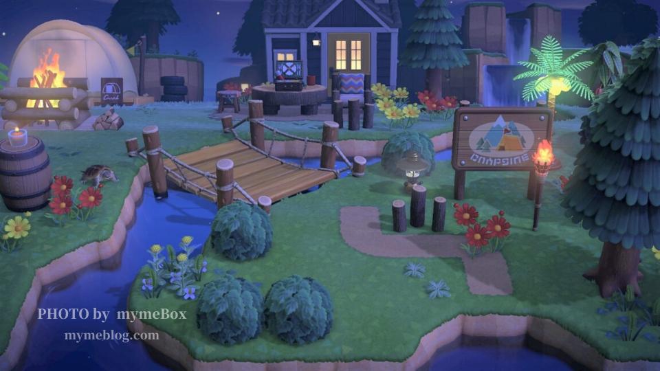 【あつ森】キャンプサイト周りとたもつの家