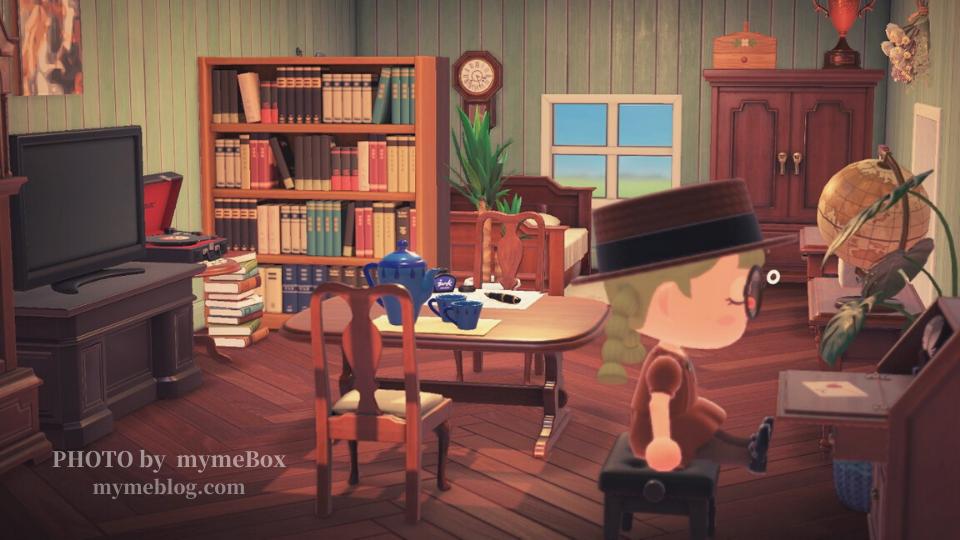 【あつ森】アンティークシリーズ家具を使ったインテリアレイアウト